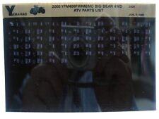 Yamaha YFM400 2000 Big Bear 4WD YFM400WNM MC Parts List Manual Microfiche s26
