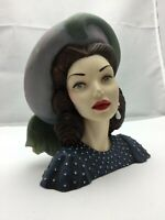 "Cameo Girls Lady Head Vase Judith 1948 ""Big Band Beauty"" COA - 6.3/4"" Tall"