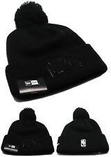 Los Angeles Clippers New Era City Pom Cuffed Black Beanie Toque Knit Hat Cap