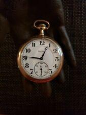 Watch W/ 25 Yr Case Working Antique Burlington 21 Jewel Railroad Grade Pocket