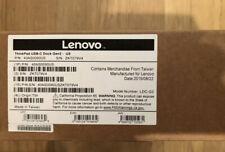 Lenovo ThinkPad 40AS0090US USB-C Gen 2 Docking Station Open Box