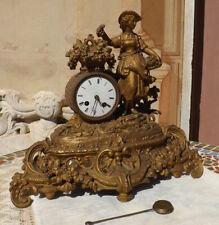 Orologio parigina francese Gardien & Cheron Paris fine '800 con damina