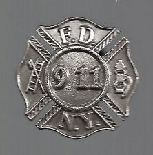 Commemorative Fire Department New York FDNY 9/11 Pin WTC Remembrance Maltese