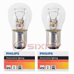 2 pc Philips Brake Light Bulbs for Jeep Cherokee CJ5 CJ6 CJ7 Commando ei
