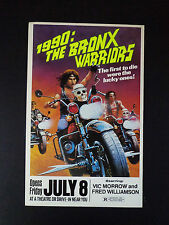 1990: THE BRONX WARRIORS (1982) ORIGINAL 14 X 22 WINDOW CARD MOVIE POSTER