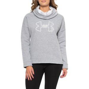 NWT UNDER ARMOUR Big Logo Heather Fleece Hoodie Top XS Retails $45.00