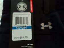 $65 UNDER ARMOUR MATCH PLAY GOLF PANTS BOY'S 1271852-001 BLACK/GRAPHITE
