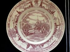 "1948 Wedgwood 10"" Plate Principia College, The Chapel in Elsah, Illinois"