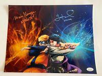 Maile Flanagan & Yuri Lowenthal Dual Signed Naruto Metallic 11x14 Photo JSA COA