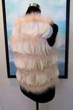 Vintage Mid Century Marabou Ostrich Feather Petal Vest Sz XS/S