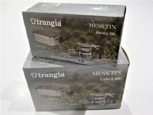 TRANGIA MESS TIN WITH HANDLE SMALL OR LARGE SIZES - MADE IN SWEDEN