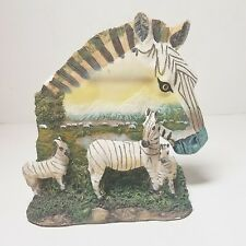 Zebras Wild Animal Statue Figurine Pets Colors Decor Collectible