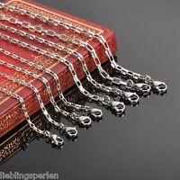 L/P: Damen Herren Kette Edelstahl Venezianerkette Boxkette Silberkette M10692