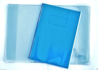 3 x Extra Strong Heavy duty A4 SCHOOL EXERCISE BOOK COVERS 298mm x 425mm clear