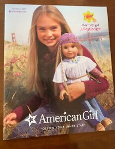 American Girl Julie Albright Meet Catalog Fall/Winter 2007 larger Catalog 11'5