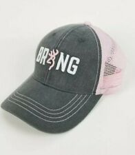 Browning Cap BRNG Pink Trucker Vented Hat Snapback Womans Hunting New