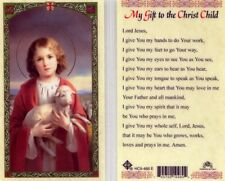 My Gift to the Christ Child Prayer Catholic Holy Card Laminated Cards HC9-466E