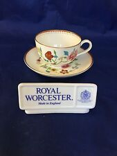 Royal Worcester ASTLEY (BONE) Z1822 Footed Cup & Saucer Set(s)