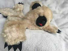Vintage Dollcraft Novelty Co Ny Tan Black Teddy Bear Plush Big Head Laying Down