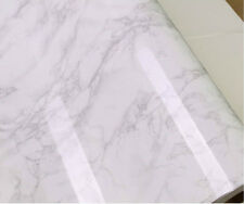 White-Grey Granite Marble Effect Counter Top Self Adhesive Vinyl Contact Paper