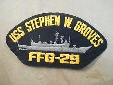 US NAVY USS Stephen W. Groves FFG-29 1982-2012 Cap Patch Iron On