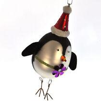 Dipinto Vetro Girl Pinguino Decorazioni Albero Di Natale (15cm)