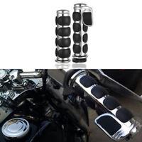 Motorcycle Handlebar 1'' Hand Grip Throttle For Cafe Racer Bobber Clubman Custom