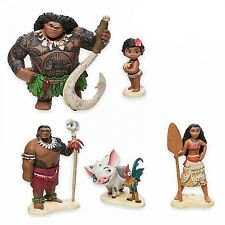 6Pcs Disney Moana Action Figures Doll Kids Figurines Cake Topper Decor Set Toy