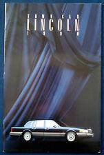 Prospekt brochure 1990 Lincoln Town Car  (USA)