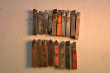 Lot of Metal Lathe Tooling Bits 3/8th Cemented Carbide