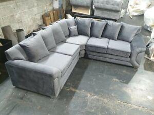 New Kingston Plush Velvet Corner sofa (2c2)