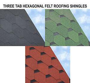Hexagonal Felt Roofing Shingles | Felt Shingles | 3m2 Pack | Sheds Log Cabins