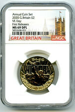 2020 GREAT BRITAIN 2PD NGC MS69 DPL V-E VE-DAY VICTORY FIRST RELEASES ~ WOW !