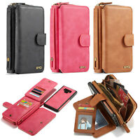 For SAMSUNG GALAXY S8 S9+ S10e S10 Plus PU Leather Wallet Strap Case Cover Zip
