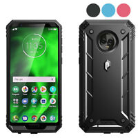 Case For Motorola Moto G6 Poetic【Revolution】Built-in-Screen Protector 3 Color