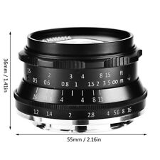 35mm F1.2 Prime Lente Manual Enfoque Fijo Objetivo Para Fuji Cámara sin Espejo