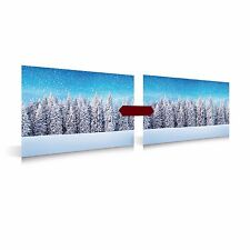 My Village-Christmas Village, Background Poster-Snow Forest, 2 stck., Plastic