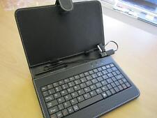 "Black 7"" Keyboard PU Leather Case/Stand for Samsung Galaxy Tab/Tab2 7"" Tablet"