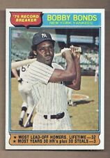 1976 Topps #2 BOBBY BONDS RECORD BREAKERS NEAR MINT CONDITION