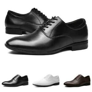 Mens Faux Leather Business Leisure Shoes Work Office Lace up Breathable Casual L