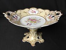 Opulent Antique (c. 1850) Hand Painted English Porcelain Tazza #4
