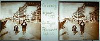 Platte Stereoskopische Fotografie Calvados Cabourg Kofferdam - June 1927 Strand