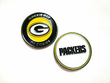 NFL Green Bay Packers Golf Ball Marker Enamel Metal Team Logo 2 Sided Hat