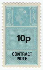 (I.B) Elizabeth II Revenue : Contract Note 10p (1983)