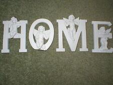 Set Of 4 Cherub Magnets spelling Home. Angels / Fantasy / Myth.