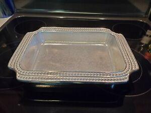 Wilton Armetale Flutes and Pearls Rectangular Baker Casserole Dish - NICE!