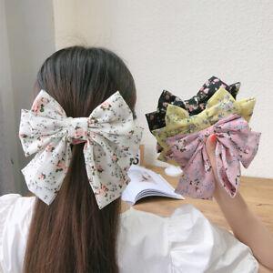 Big Large Fashion Satin Women Girls Hair Band Cute Bow Hairpin Hair Clip Ladies