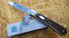Hartkopf Federdrücker-Taschenmesser, Stahl 1.4034, Hirschhornschalen 345410 Neu