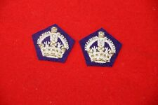 WW2 BRITISH / CANADIAN CHAPLAIN MAJOR RANK CROWNS COPY PAIR
