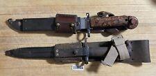 Lot of 2 Vintage Rare Bayonet Military Combat Knives_E.A.B 696 & Ca 1508 Knife